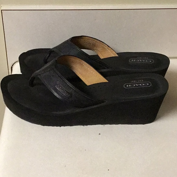 40da08fdaeb6 Coach Shoes - Coach Juliet sandals size 8